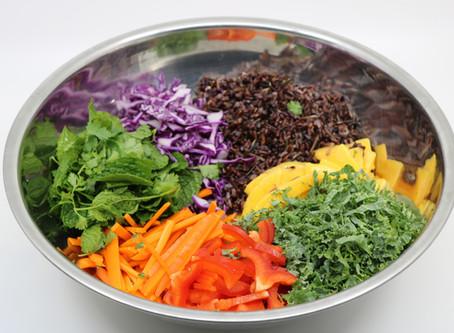 Bulk lunch prep : Thai Inspired Salad w Peanut Ginger Dressing