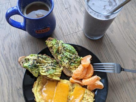 today's rainbow breakfast