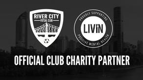 River City Futsal supports LIVIN mental health foundation