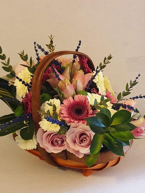 Small Trug Basket Arrangement