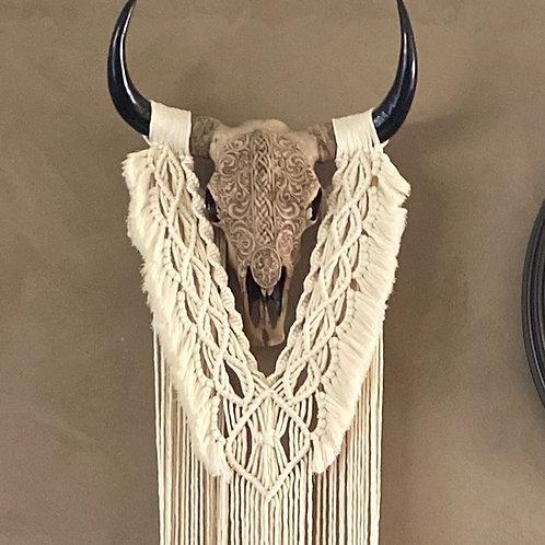 Bohemian Skull Macrame
