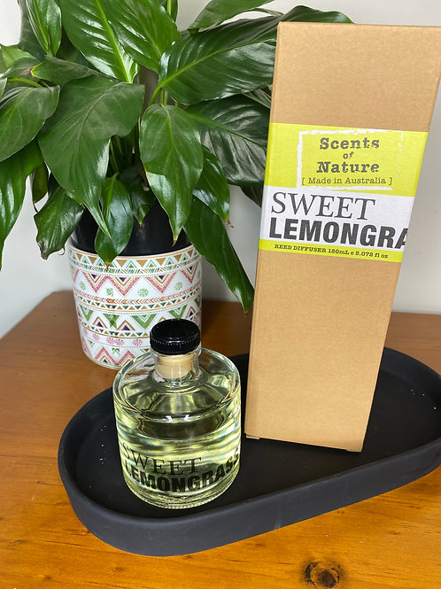 Scents of Nature Sweet Lemongrass Reed Diffuser