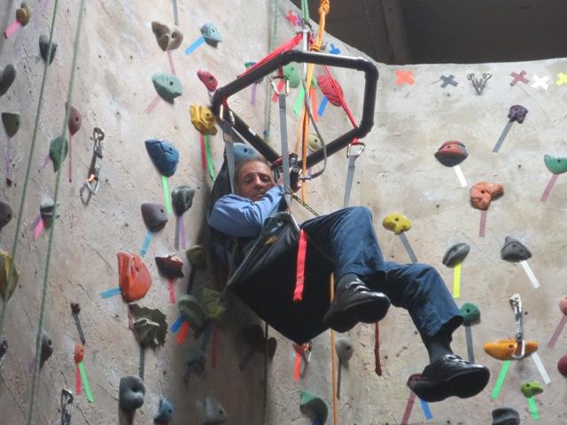 Quadripalegic Climbs