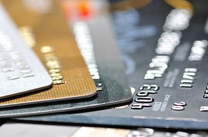 pack of credit cards in most shallow foc