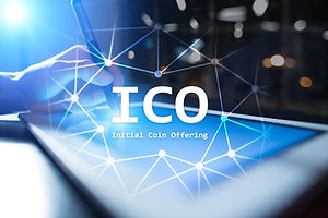 ICO, Initial Coin Offering. Digital elec