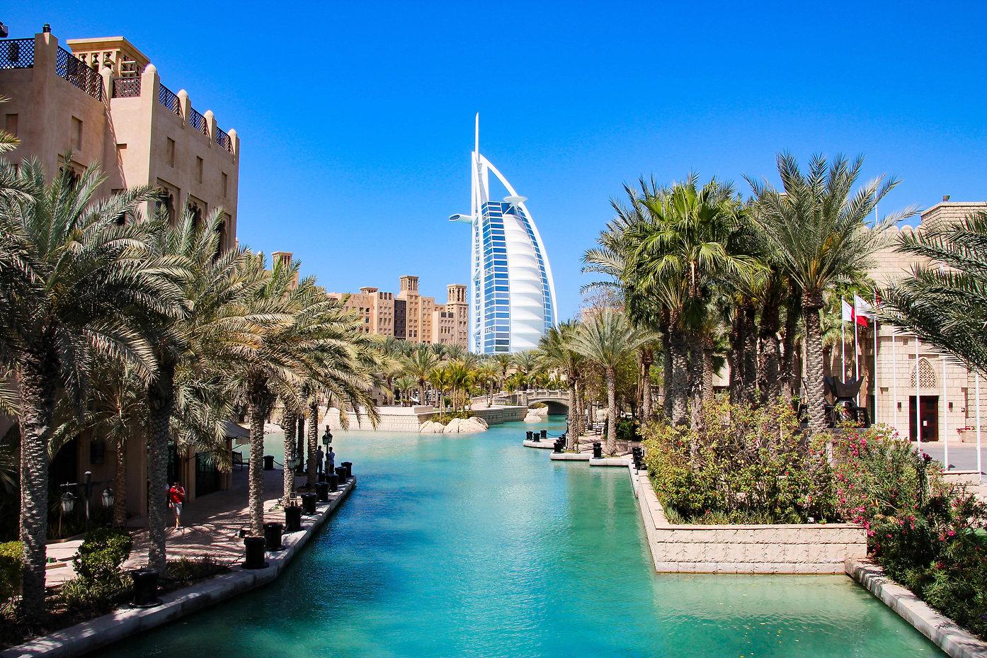 Burj al Arab seen from Madinat Jumeirah,