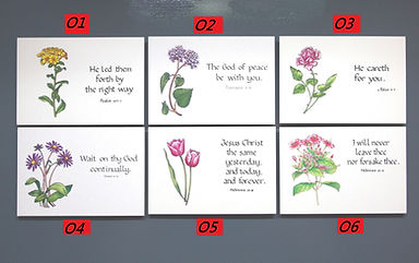 christian gospel scripture gift enclosure card 基督福音聖經經文金句禮物附件咭