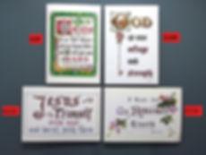 christian gospel scripture greeting card 基督福音聖經經文金句問候咭