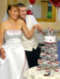 Wedding Cake and Cupcakes for their Special Day