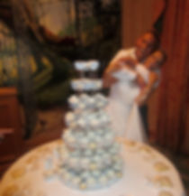 Cakes by Joti created a Romantic Cupcake Tower Wedding