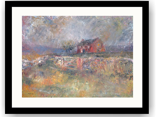 Moorland Cottage in a Rainstorm