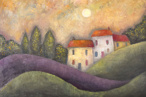 Cottages in a Rolling Landscape