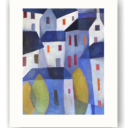 Blue Townscape