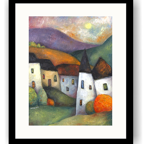 Townscape and Hills