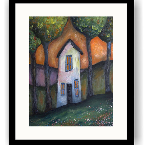 Tall Cottage & Two Trees