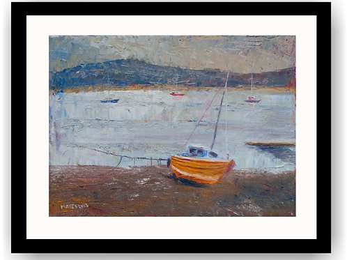 Beached Orange Boat