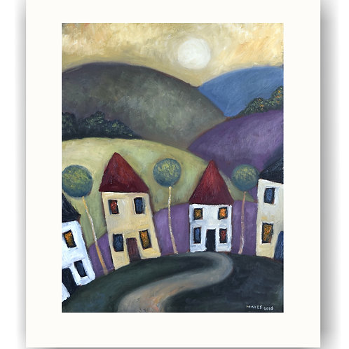 Rolling Hillscape and Houses