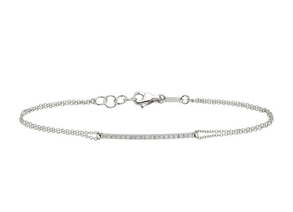 White Gold Smile chain Bracelet