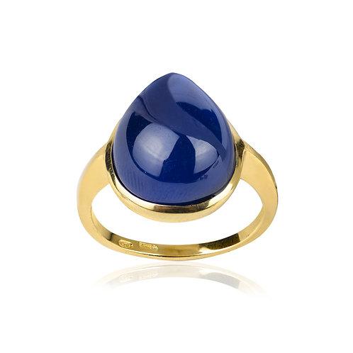 Anello Giada Blu
