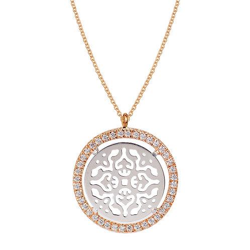 Collana Damasco con Oro Bianco e Diamanti
