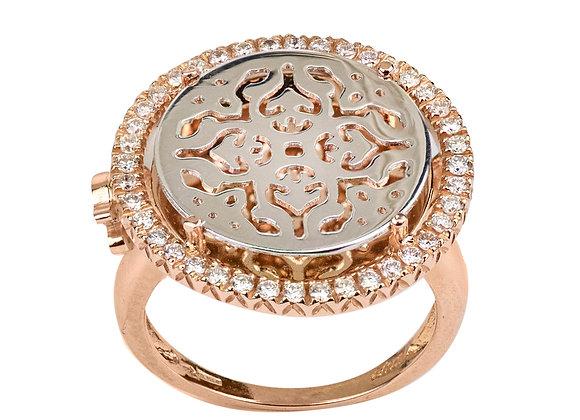 Mirrored Gold Damasco Ring