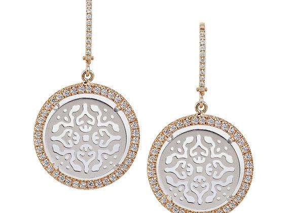 Mirrored Gold Damasco Earrings