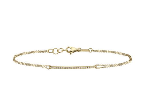 Yellow Gold Smile chain Bracelet