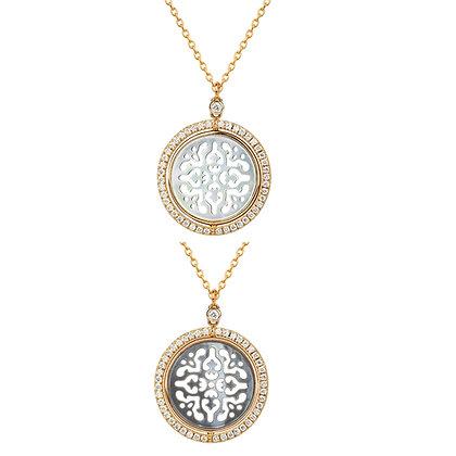 Collana Damasco Reversibile con Diamanti