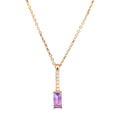 Amethyst and Diamonds Empire Necklace