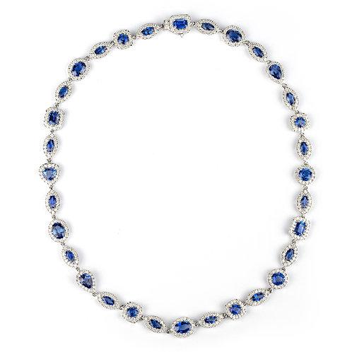 Collana Elite Zaffiri Blu multitaglio e Diamanti