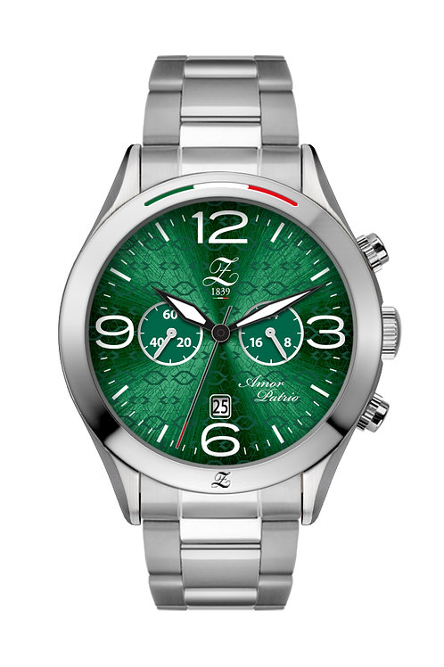 Cronografo Verde Boreale 44mm Acciaio Lucido