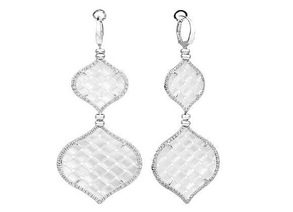 White Gold Venice Earrings