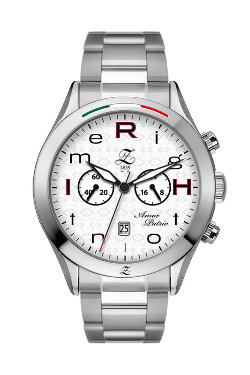"Cronografo ""RigHt on tIme"" 44mm Acciaio Lucido"
