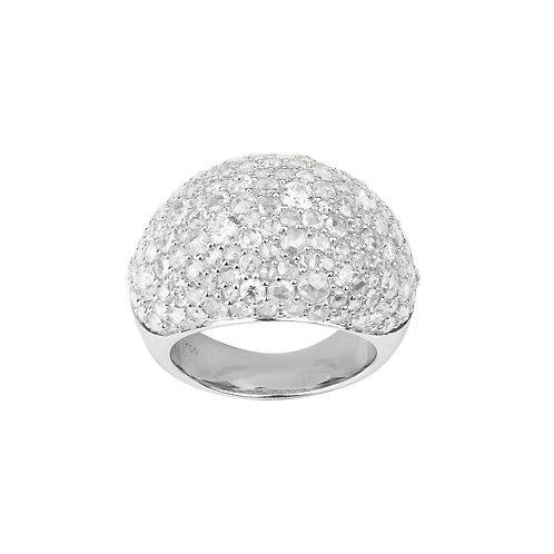 Anello Boule Eterno Pavé di Diamanti