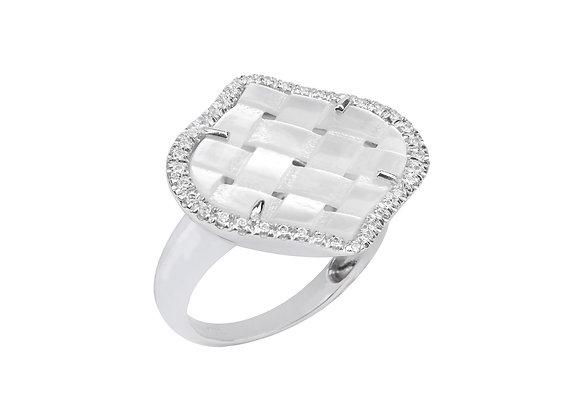 White Gold Venice Ring