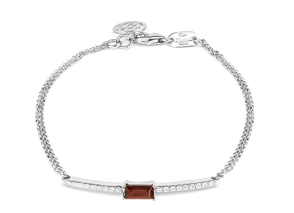 Garnet and Diamonds Empire Bracelet