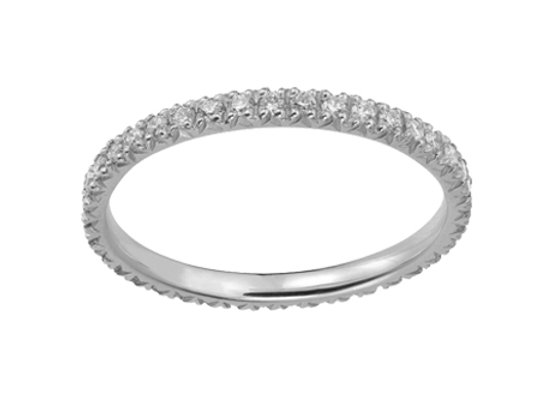 White Gold Smile Ring