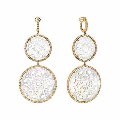 Double Diamonds Damasco Earrings
