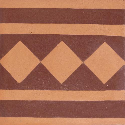 Pastina in cemento Fascia decorativa Rombi