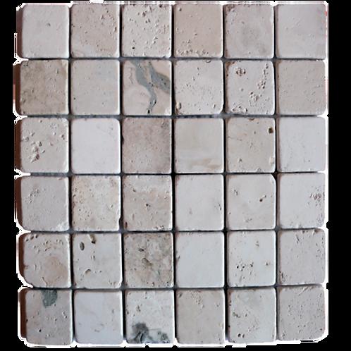Mosaico su rete Saturnia/Nuvolato 48x48
