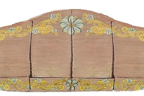 Ripiano decorativo in cotto ceramizzato