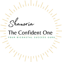 The Confident One Logo White background.
