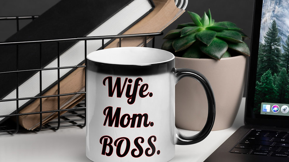 Wife. Mom. BOSS.: Glossy Magic Mug