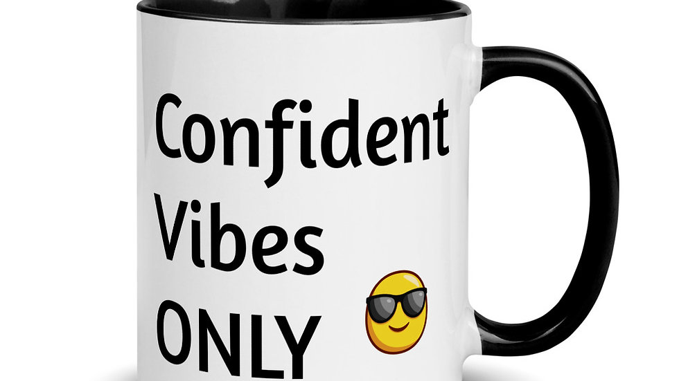 Confident Vibes: Mug with Color Inside