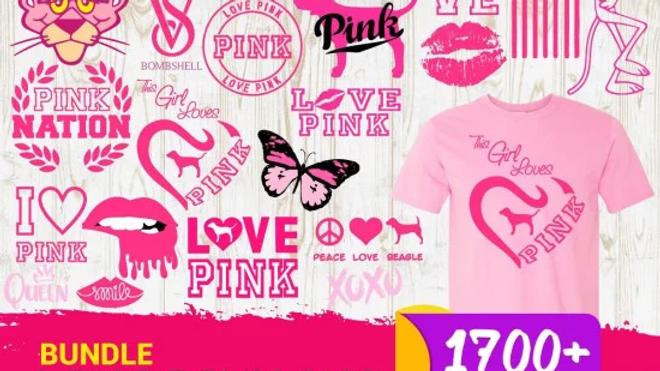 1700+ Love Pink SVG Bundle