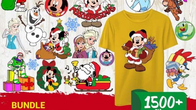 1500+ Disney Christmas SVG Mega Bundle