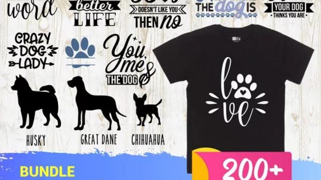 200+ Dog Bundle SVG