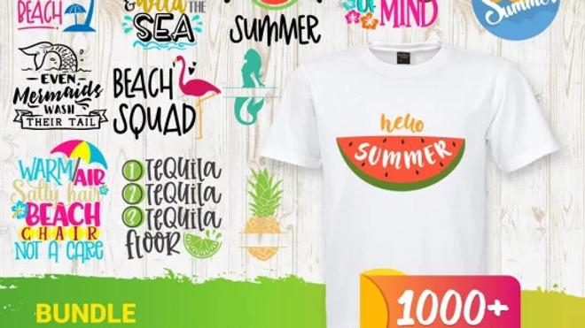 1000+ Summer SVG Bundle