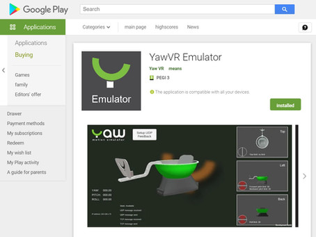 Yaw VR Emulator update. Android release