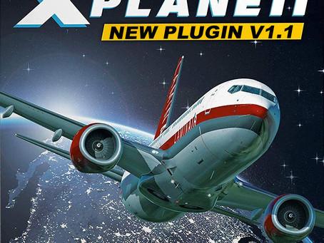 X-plane 11, plugin update V1.1